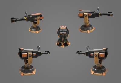 Crete a custom 3D object with full textures and 5 renders