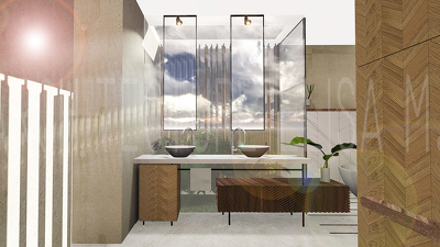 professional Interior Design and Render of your Bathroom