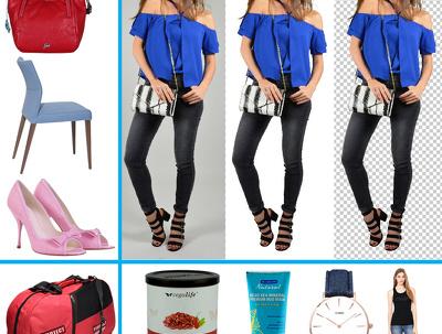 Cutout white background & resize up to 30 images Professionally