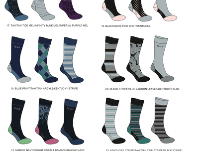 Design up to 10 pairs of socks (different colours/print)