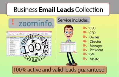 Give 100 Active & Valid  Email Leads of Your Business Audience