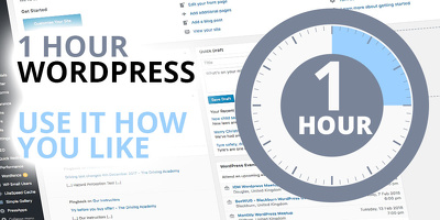 Spend an hour in your wordpress website doing whatever you wish