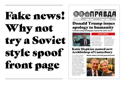 Design a mock/spoof newspaper front page for as little as ..