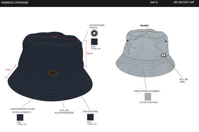 Create a design and tech pack for a hat/cap