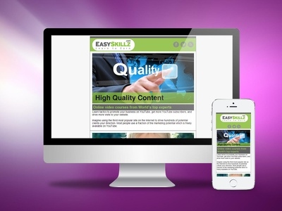 express Email Newsletter Design + HTML Responsive