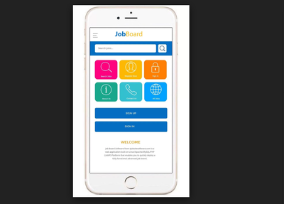 Develop Job search Portal with Apps