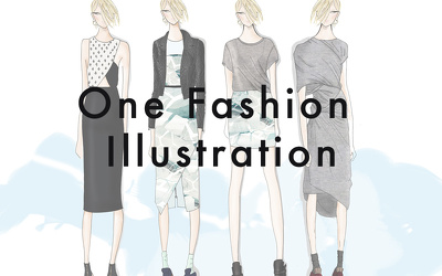 Hand draw one fashion illustration