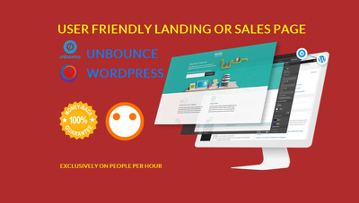 Design an Unbounce | WordPress | landing or sales page