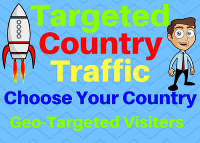 Provide You 1500 Country Targeted Traffic Choose Your Country