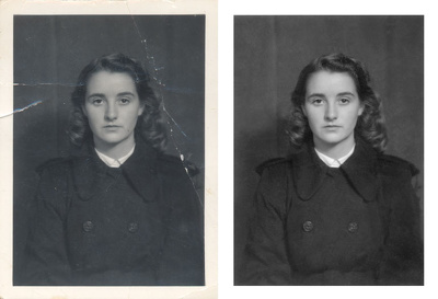 Digitally clean up and restore old photographs