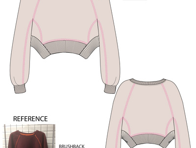 Provide 10 fashion CAD designs