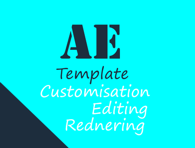 Edit anyaftereffects template from videohive or anysite for you