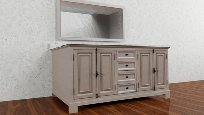 Provide 2D renders and 3D Models of furniture