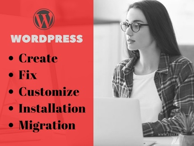 Fix wordpres issues,wp installation,migration,theme setup