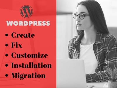 Fix wordpres issues,wp installation,migration,theme setup