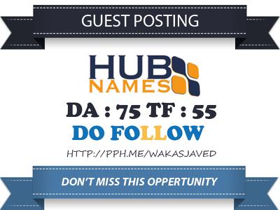 Publish Guest Post on Hubnames - Hubnames.com DA 75 Dofollow