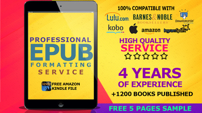 I Will Professionally Format Your Book For Epub, Mobi And Print