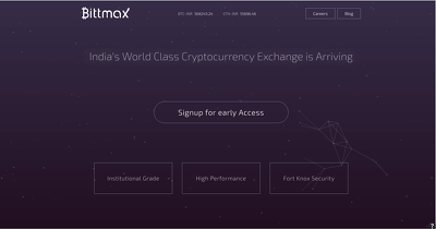 Create a landing page for your Blockchain or any other project.