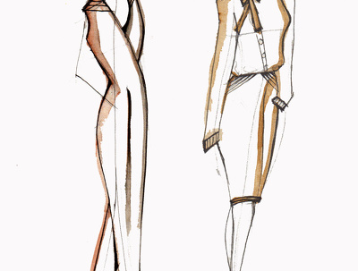 Visualize your fashion ideas with hand drawn illustrations