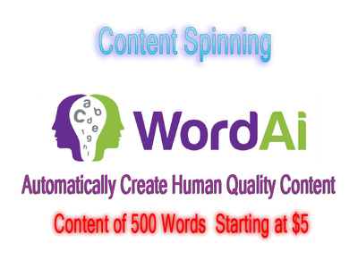 Spin Your Content Using The Turing Spinner In WordAi Within 12H