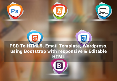 Convert PSD To responsive HTML5 using Bootstrap