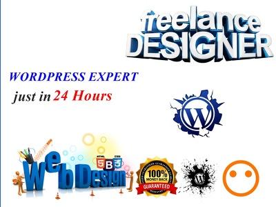 Create website webdesign on wordpress
