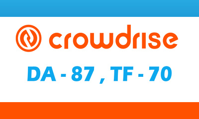 "Write And Publish A Guest Post On ""Crowdrise"" DA-87"