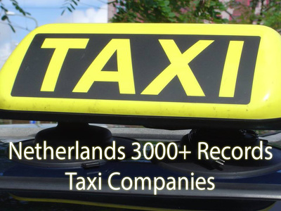 Provide you Netherlands 3000 plus records Taxi companies