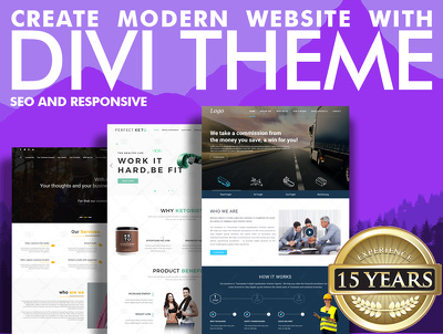 Design and Code Responsive + seo ready website in Divi Themes
