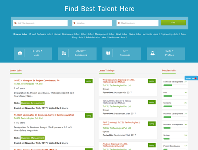 "Design And Develop ""Job Portal"" Website & Mobile Application"