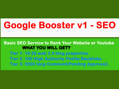 Google Booster v1 - SEO Service to Rank Your Youtube