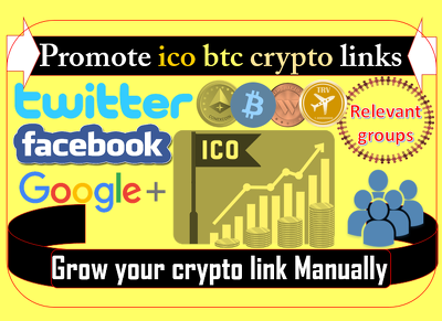 Promote cryptocurrency ico bitcoin links on big social media