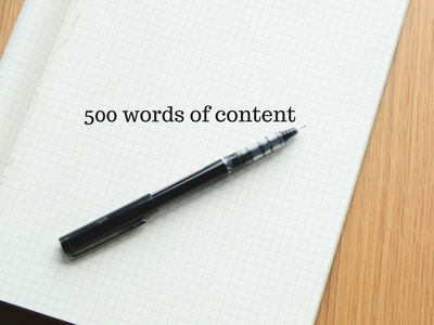 Write 500 words of well researched, engaging content