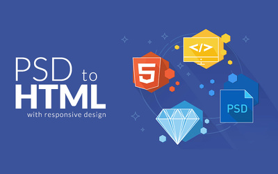 Convert PSD to HTML5 ( 3 pages )