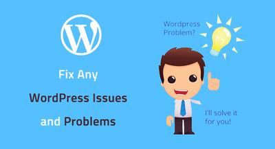 Fix wordpress problems ,errors or do wordpress customizations