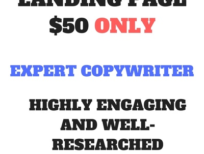 Write a highly engaging and fast converting landing page.
