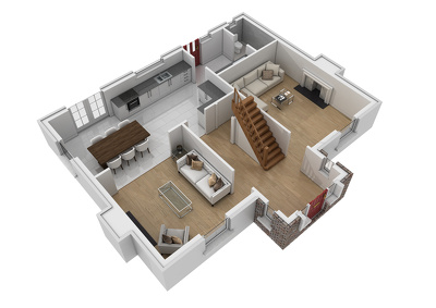 Convert your 2D floor plans into furnished 3D Models