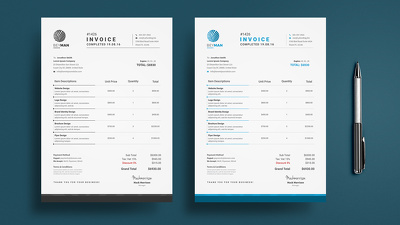 Design auto calculated invoice in both excel and indesign