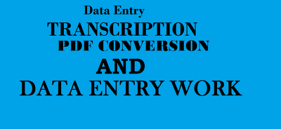 Do all type of data entry work for 6 hours