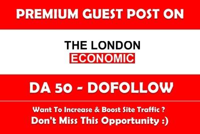 Publish a Guest post on TheLondonEconomic.com - DA 50