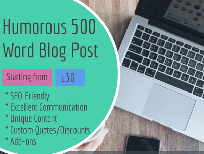 Write a Humorous 500 Word Blog Post