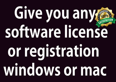 Give You Software License Use For Life Time windows or mac