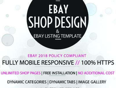 Design responsive Ebay Shop Design & Listing Description Design
