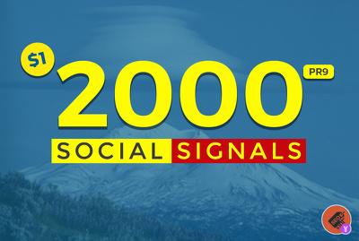 2000 Mixed Social Post Promotions and Boost - Social Signals