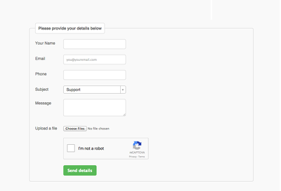 Create Ajax Form in your site built in any CMS or Framework