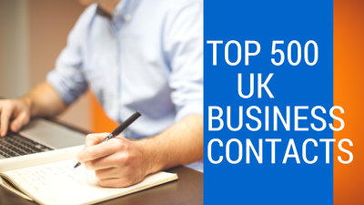 Provide 500 UK Business Contacts (Email,Phone ,Address,Site etc)