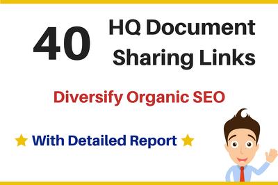 40 Document Sharing or PDF Sharing Links, Organic SEO