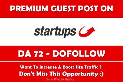 Write & Publish Guest Post on StartUps. Startups.co.uk - DA 72