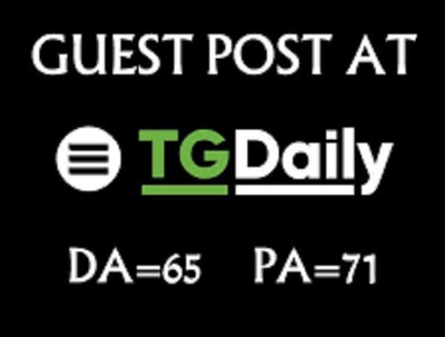 Publish dofollow guest post at tgdaily DA 70 - TGDaily. dot for