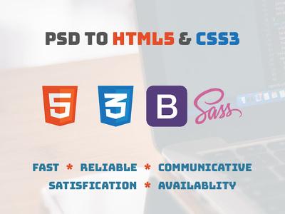 Convert PSD/skatch to Responsive HTML5 & CSS3